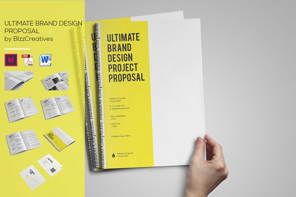 Check out Ultimate Brand Design Proposal by BizzCreatives on - what is in a design proposal