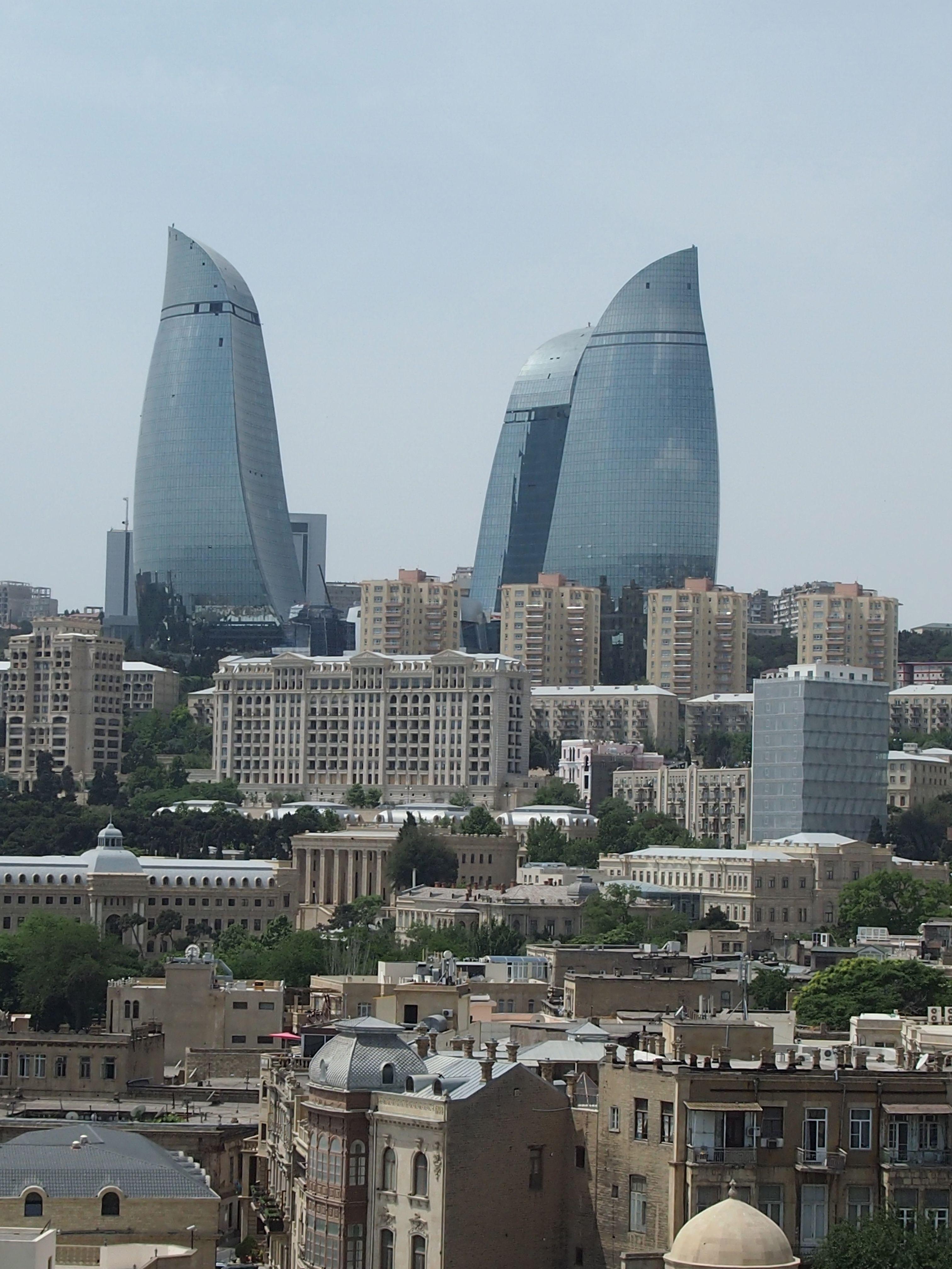 Flame Towers Baku Azerbaijan Hok 2007 Baku City City Photography Places To Go