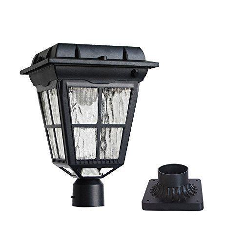 Kemeco St4310aq 6 Led Pir Motion Sensor Solar Post Light With Cast Aluminum 3 Inch Fitter Base For Outdoor Garde Solar Post Lights Post Lights Solar Energy Diy