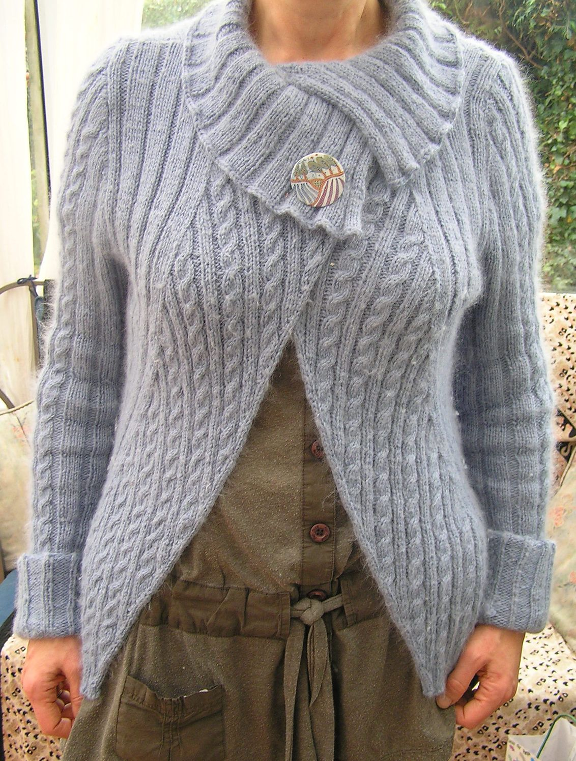 Wrap cardigan knitting patterns knit patterns cable and shapes free knitting pattern for twist and shout cardigan this long sleeved split collar bankloansurffo Image collections