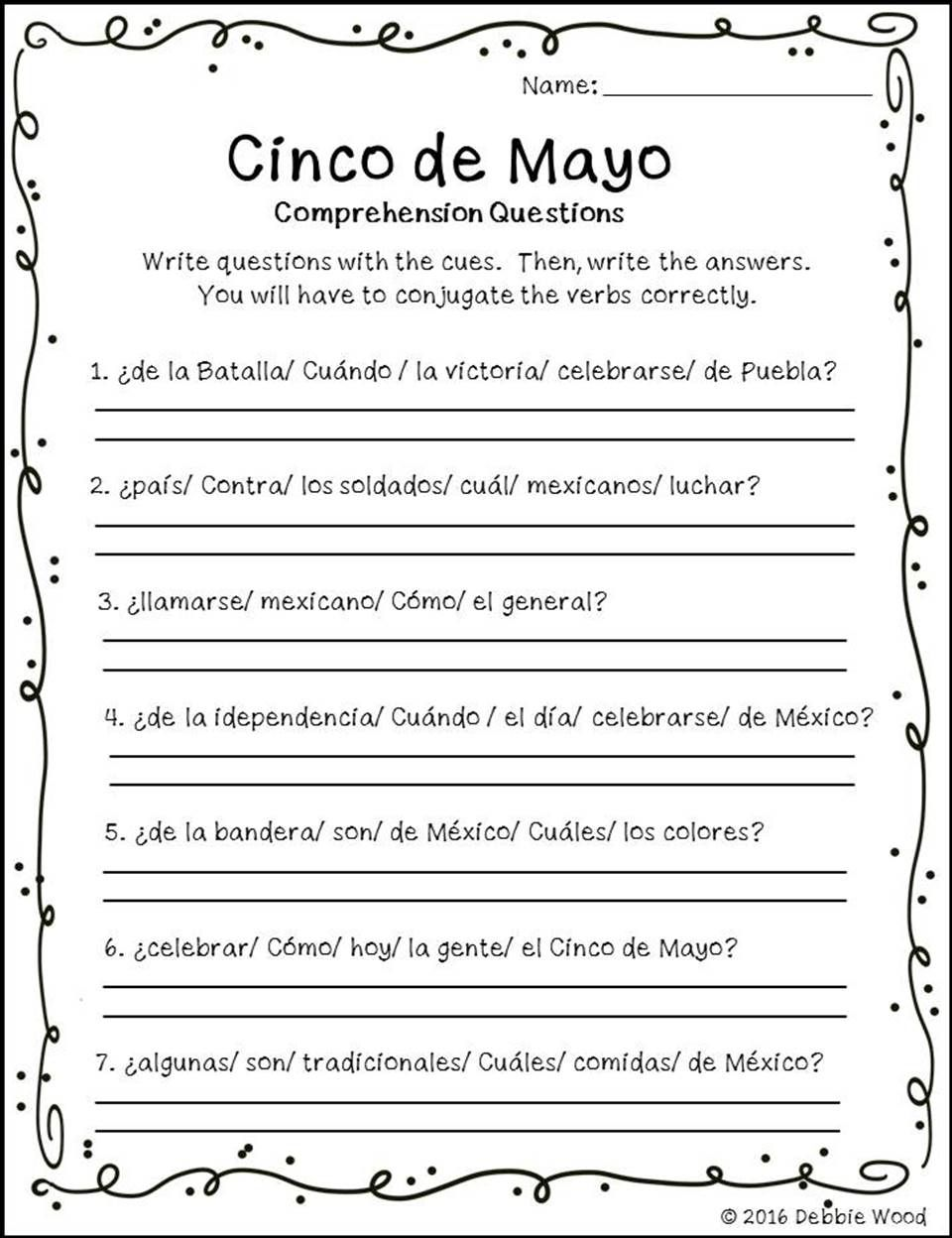 Study The History And Cultural Aspects Of Cinco De Mayo With Your Spanish Langua Spanish Reading Comprehension Reading Comprehension Worksheets Spanish Reading [ 1248 x 960 Pixel ]