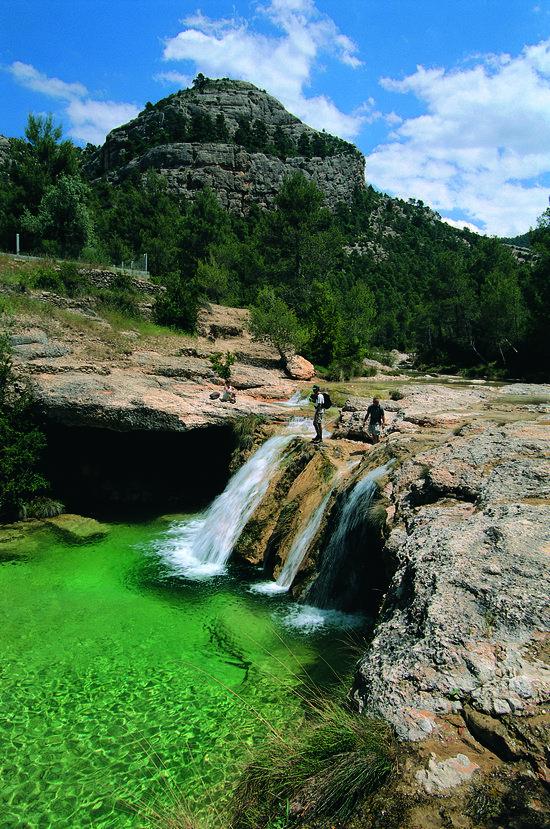 El Toll del Vidre al riu Algars, al Parc Natural dels Ports.Tarragona Catalonia