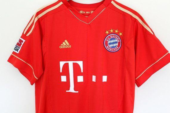 premium selection 74331 9c726 Vintage BAYERN MUNICH Shirt, Red Gold Adidas Jersey, Bayern ...