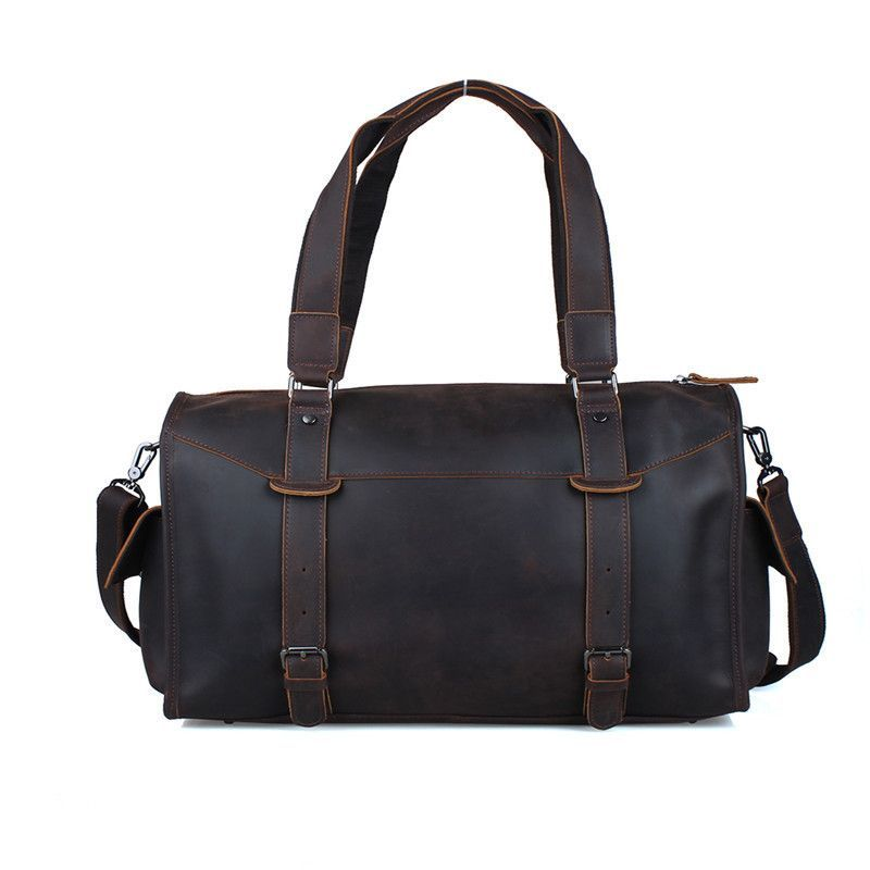 Baigio Men s Travel Bag Retro Dark Brown Overnight Tote Handbag Brand  Designer Best Hand Luggage Crossbody Bag c992312f579fd