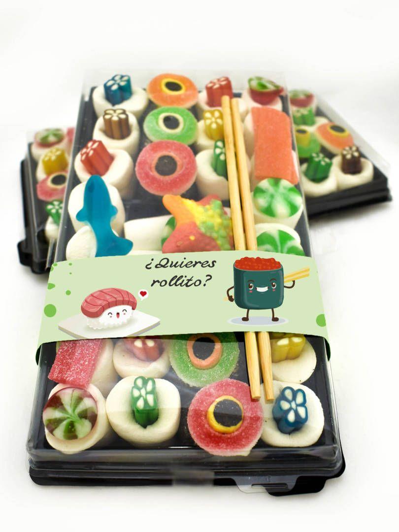 Sushi Del Buen Rollito Xxl Sweet Design Sushi De Chuches Dulces De Sushi Tiendas De Golosinas Gomitas Dulces