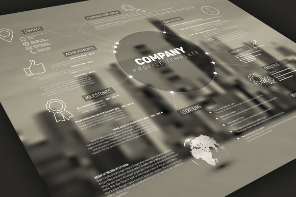 Company Profile Template by Orson on Creative Market My vector - best company profile format
