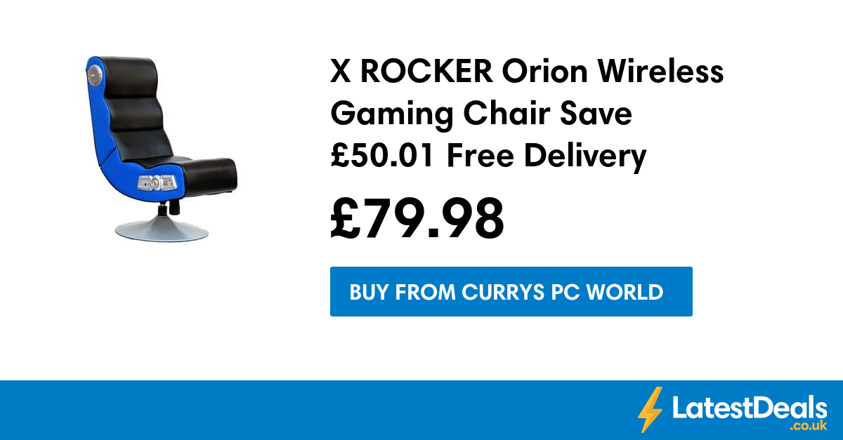 X ROCKER Orion Wireless Gaming Chair Save £50.01 Free