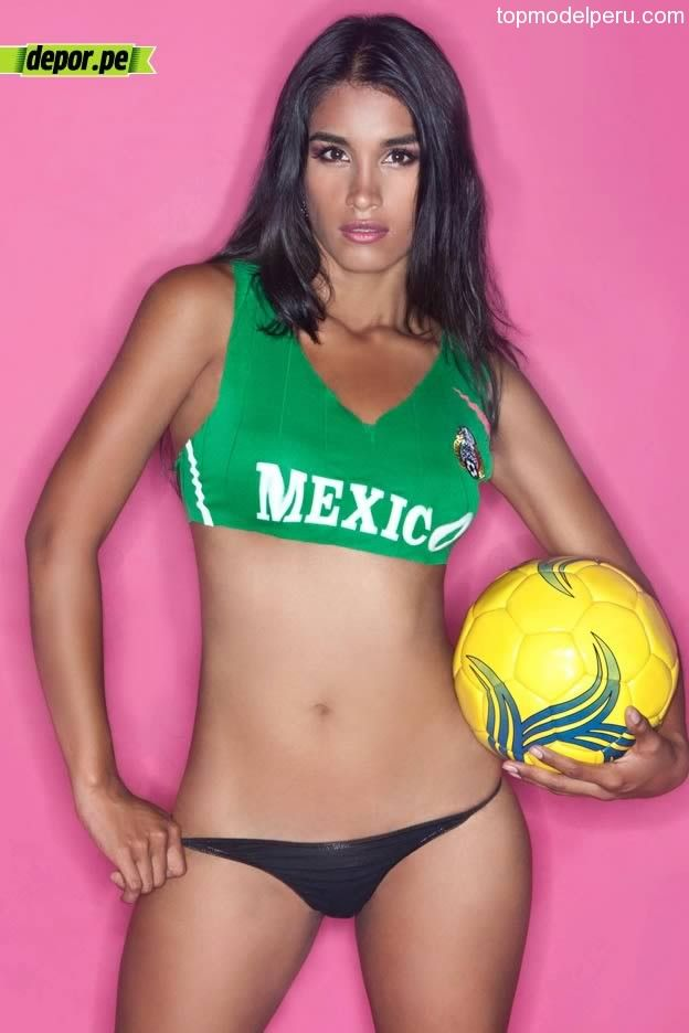 Mexican girl playing soccer nude