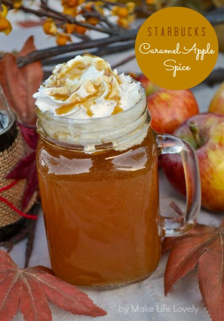 Starbucks Caramel Apple Spice Drink Recipe -- OMG I NEED TO DO THIS!!!!!!!!!!!!!!!!!!!!