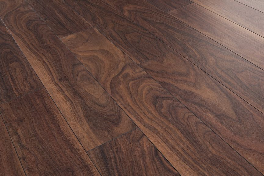 Series Woods 10mm Laminate Flooring American Walnut With Images Walnut Laminate Flooring Flooring Black Walnut Flooring