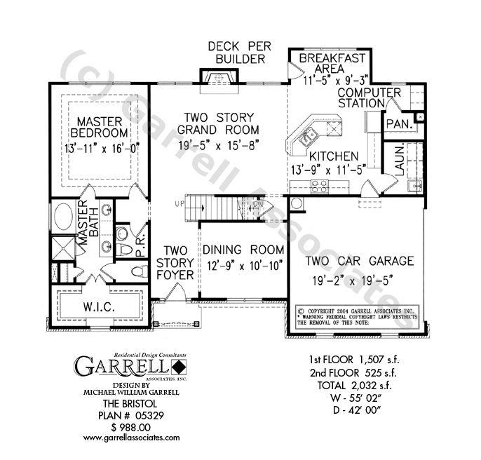 Bristol House Plan 05329 1st Floor Plan Master Down House Plans – Two Story Master Down Floor Plans