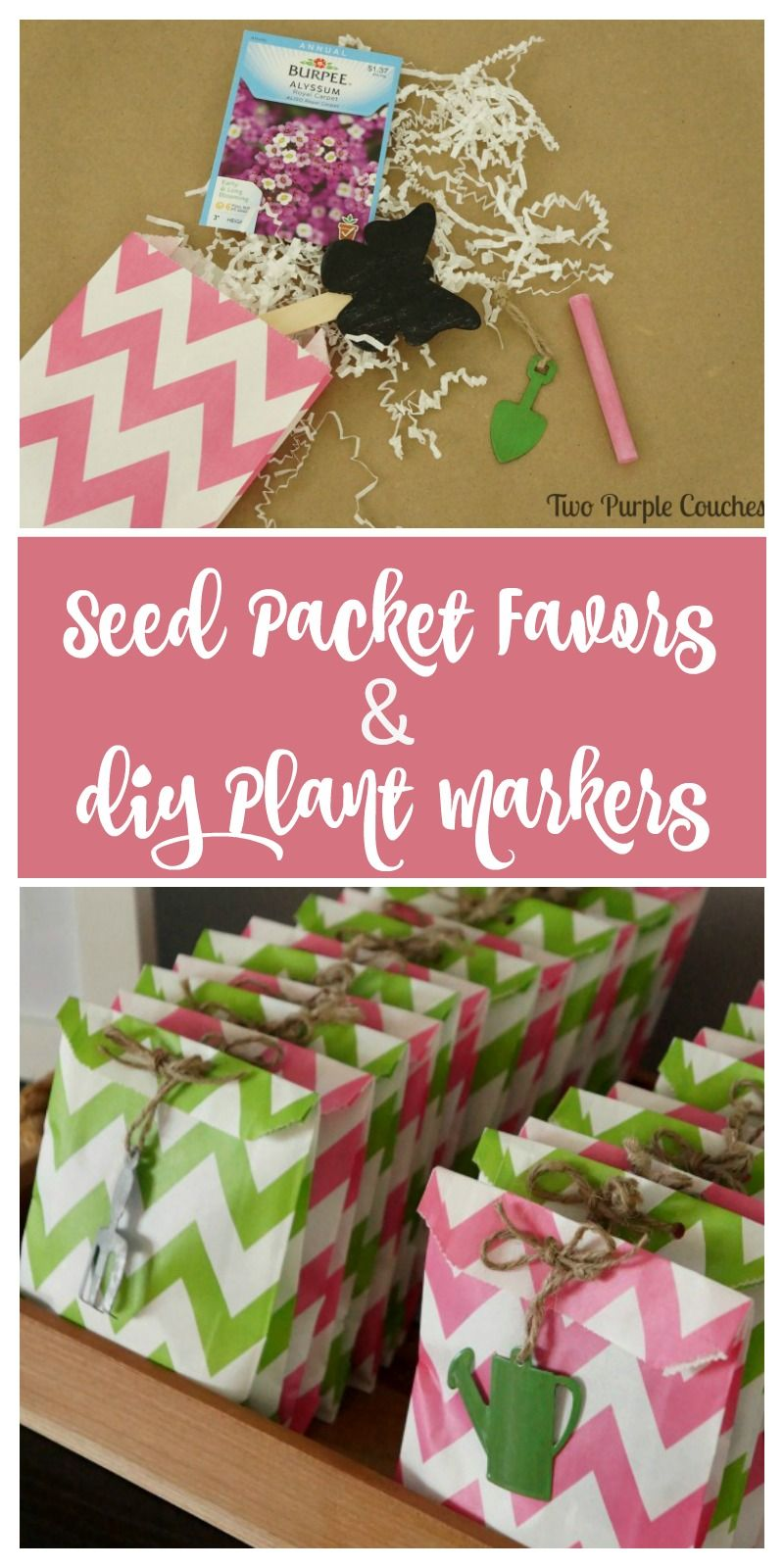 Seed Packet Favors with DIY Chalkboard Plant Markers | Crazy for DIY ...