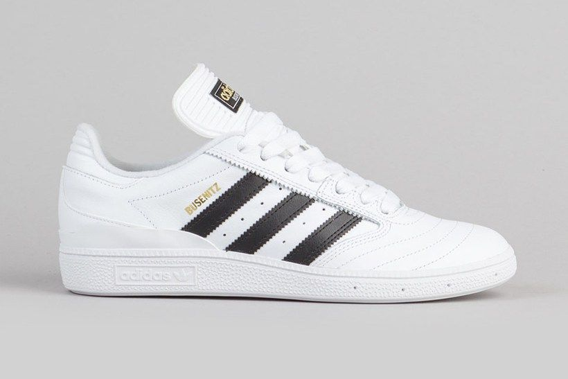 0e2deabe4 Adidas Skateboarding Dennis Busenitz Pro Skate Shoes Leather White Black  Gold