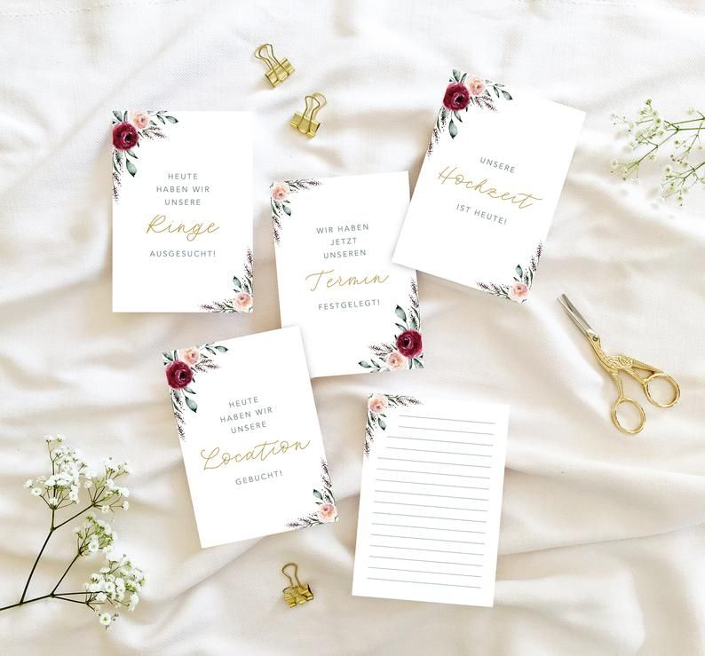 Wedding Milestones Memory Cards Roses And Gold 24 Cards Gift Wedding In 2020 Wedding Milestone Wedding Gifts Wedding Preparation