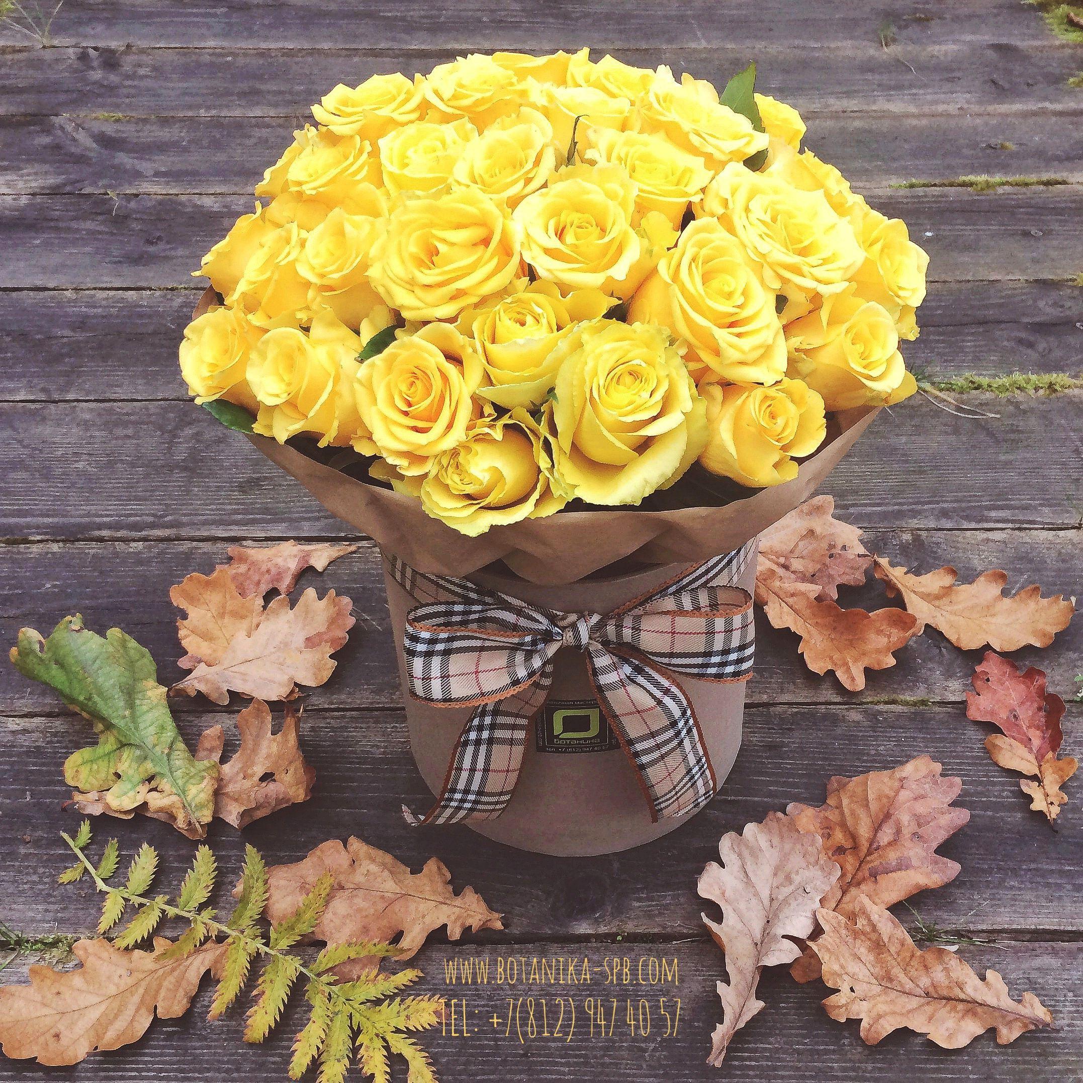 букет из желтых роз фото в коробке так появилась