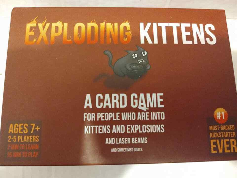 Details About Exploding Kittens Original Edition Family Fun Card