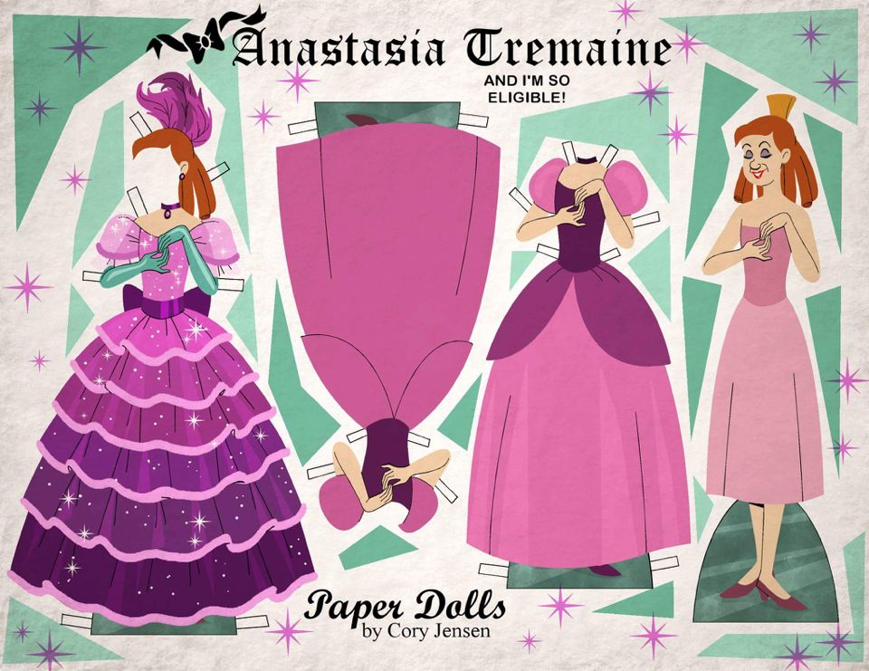 anastasia tremaine paper dolls by cory vintage imagination paper dolls. Black Bedroom Furniture Sets. Home Design Ideas