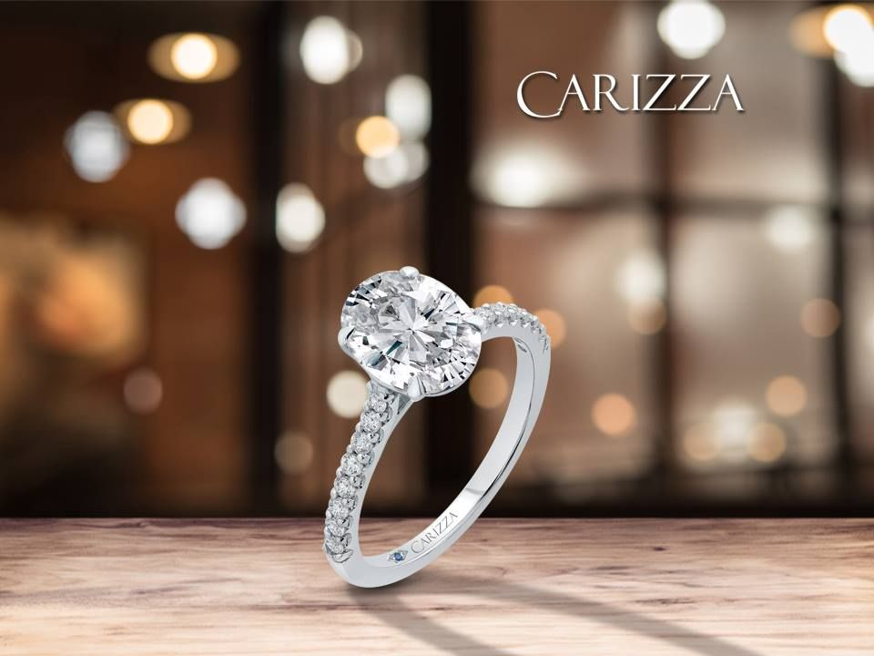 Shine the brightest with a carizza engagement ring
