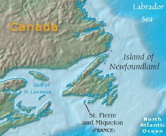 Saint Pierre and Miquelon an overseas department of France