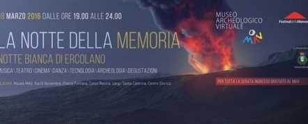 Domani (18/03/2016) è in programma la Notte Bianca di Ercolano, una delle grandi iniziative che riguardano il territorio che ci circonda. Per maggiori informazioni: http://www.villasignorini.it/?p=6274!!!