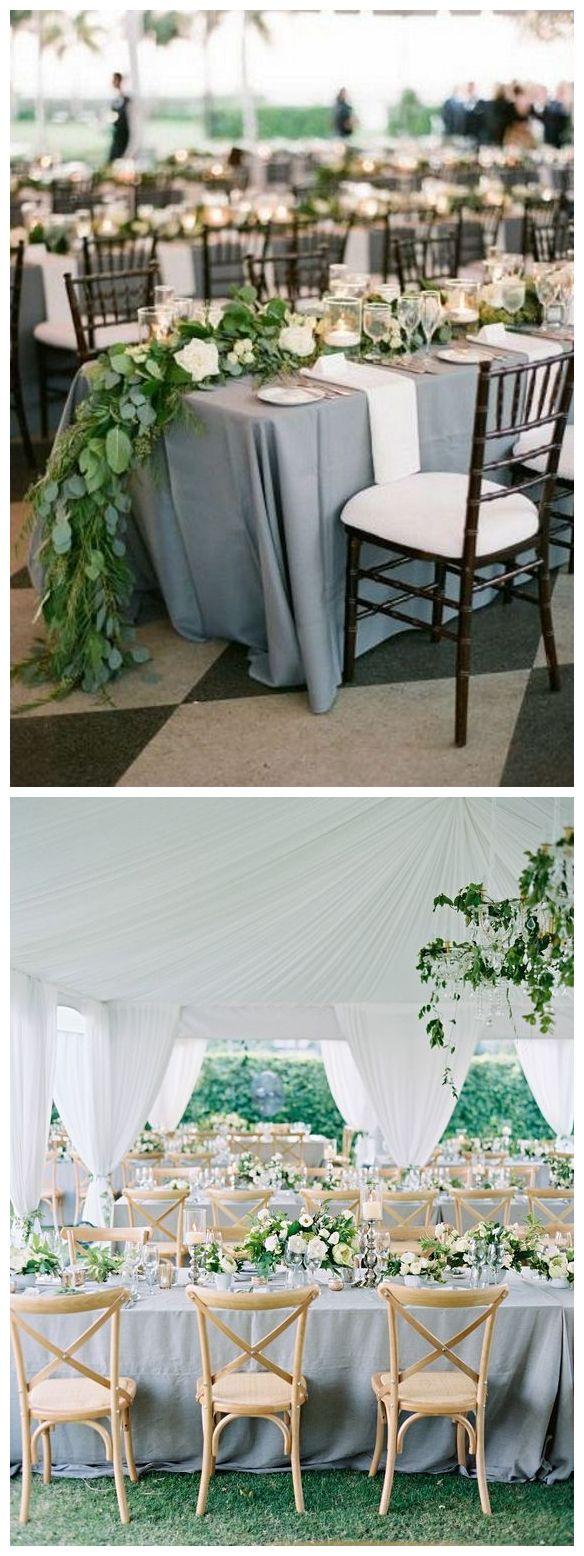 Blue wedding decor ideas  Top  Classic Romantic Dusty Blue Wedding Decor Ideas  Wedding