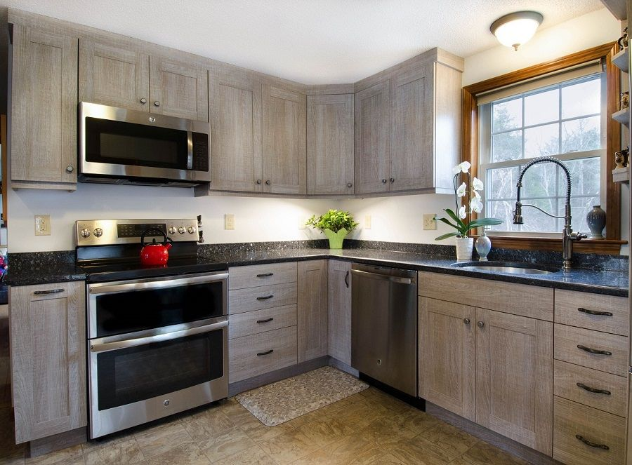 Driftwood cabinetry kitchen remodel, Hudson NH | Kitchen ...