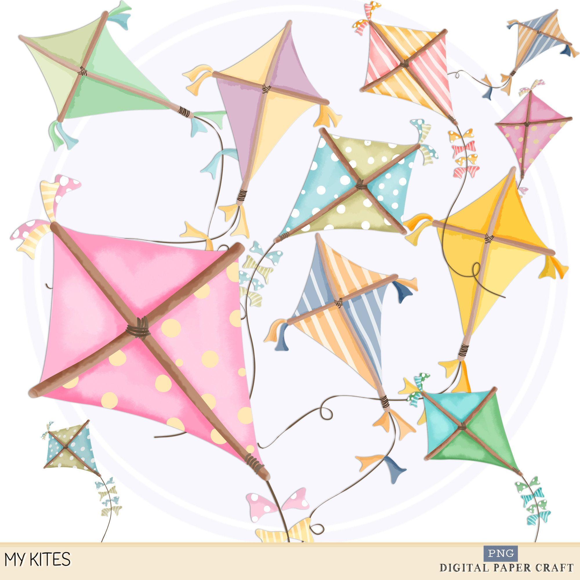 Kite Clipart Hand Drawn Kite Kites Clipart Instant Etsy Clip Art Kite How To Draw Hands