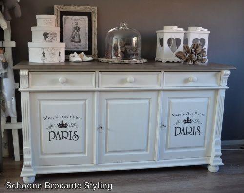 Landelijke dressoir kast decoratie pinterest for Decoratie op dressoir