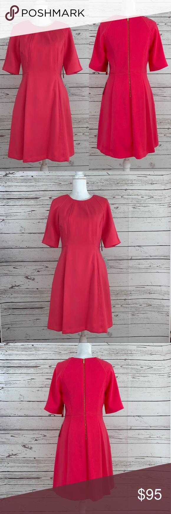 Nwt Vince Camuto Pink Dress Pink Dress Dresses Clothes Design [ 1740 x 580 Pixel ]