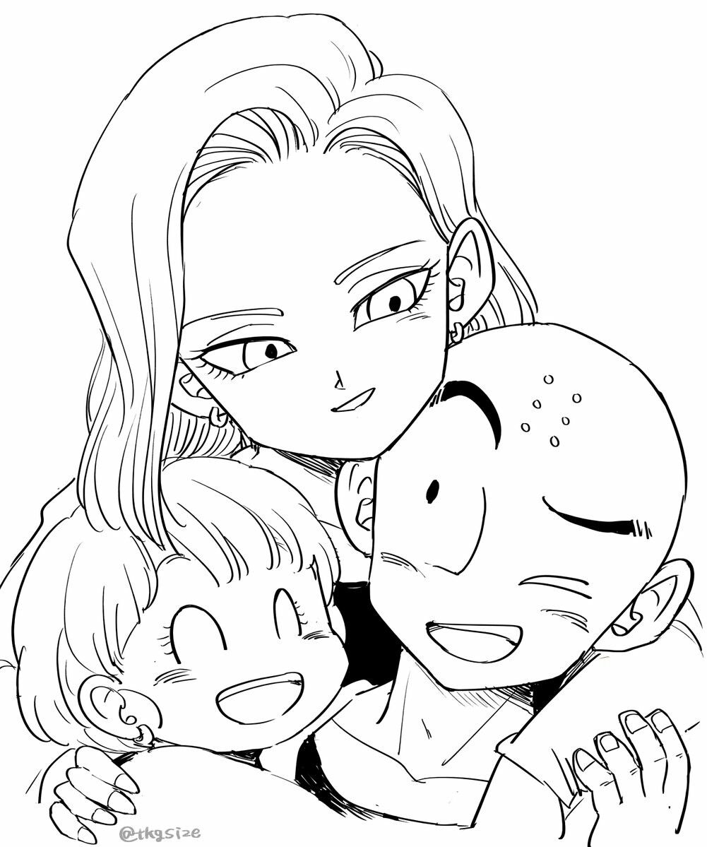 Krillin S Family Anime Dragon Ball Super Dragon Ball Artwork Dragon Ball Art