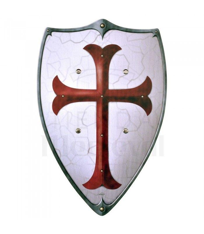 Escudo Templario De Madera Ninos Escudos Para Ninos Ninos Tienda Escudo Romano Escudos Medievales Templarios