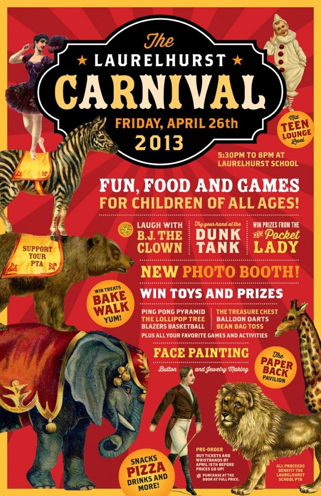 Carnival poster | Research: Fun House | Pinterest | Best Vintage ...