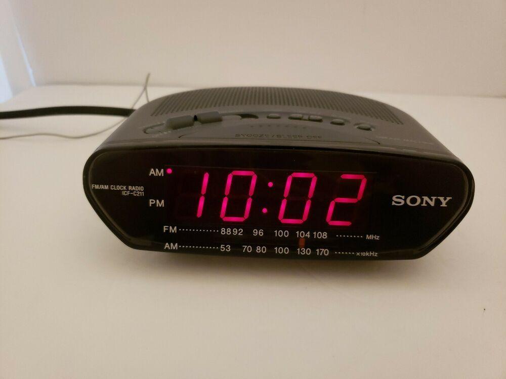 Sony Dream Machine Am Fm Alarm Clock Radio Model Icf C211 Fashion