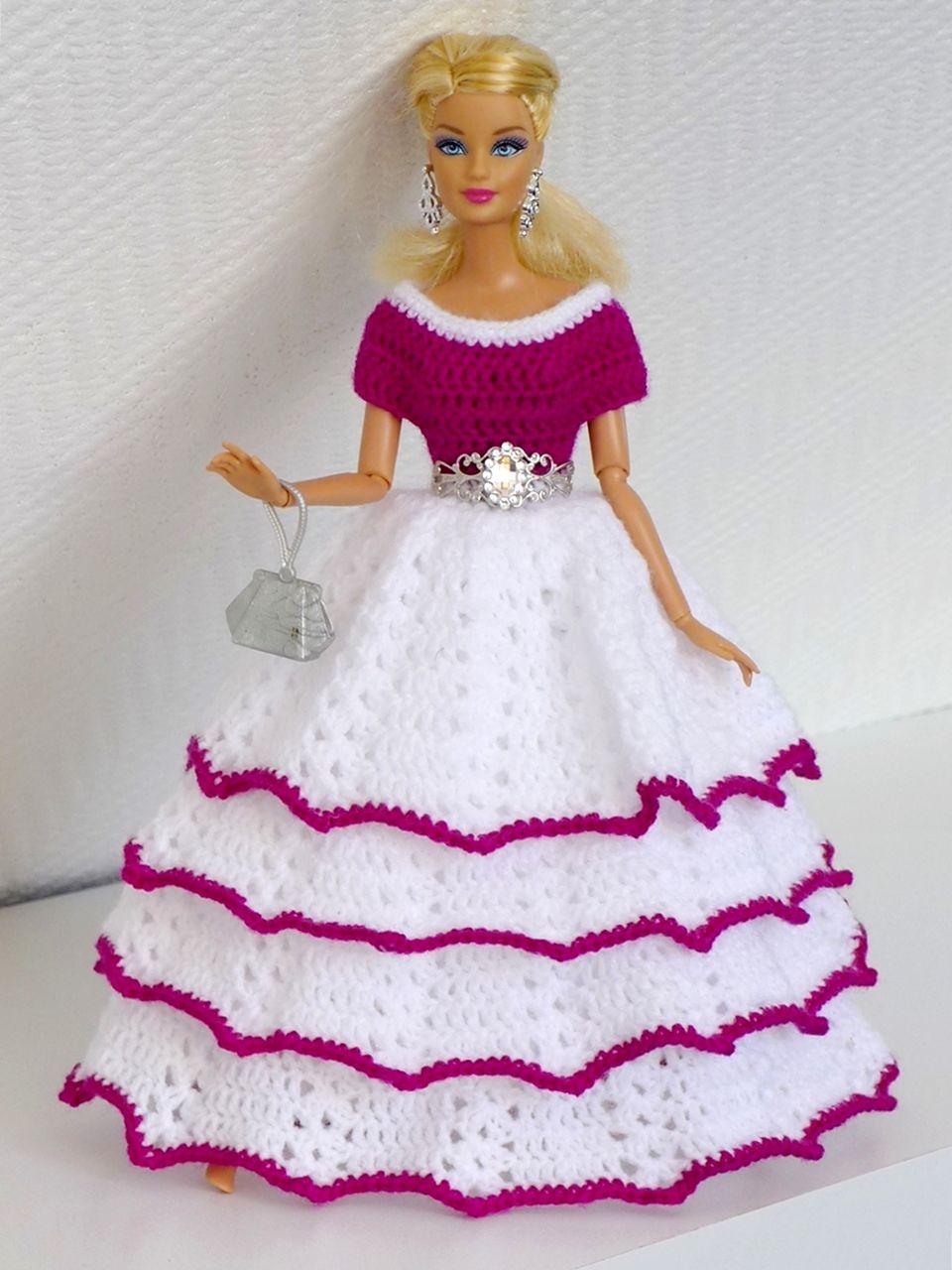 Häkelanleitung Traumhaftes Prinzessinnenkleid für kleine