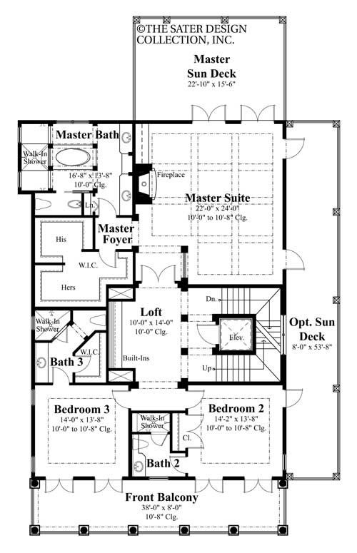 Capella Place House Plan Southern Plantation Style
