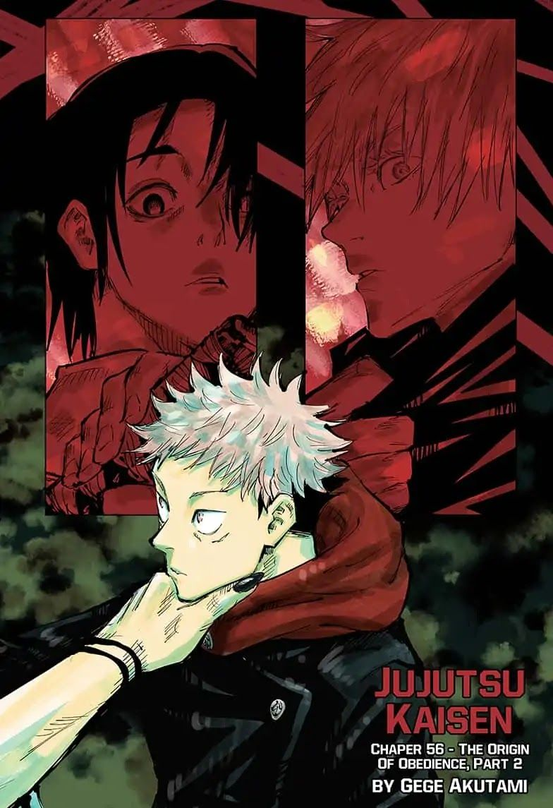 Jujutsu kaisen chapter 56 jujutsu manga covers manga