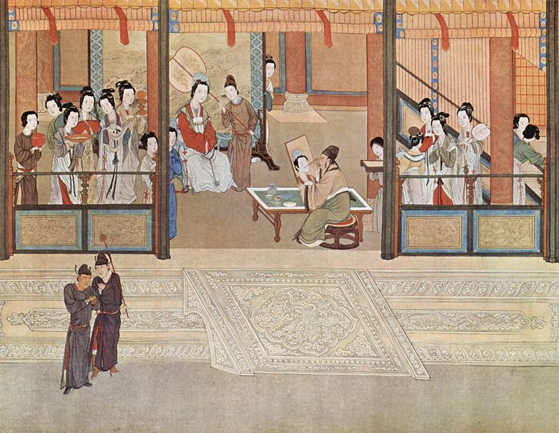 Spring morning in the Han Palace, by Qiu Ying (仇英; ca