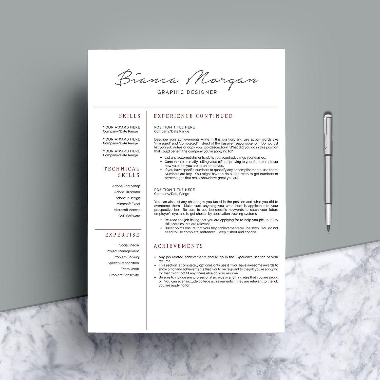 Professional Resume CV 4 Pages Resume cv, Professional