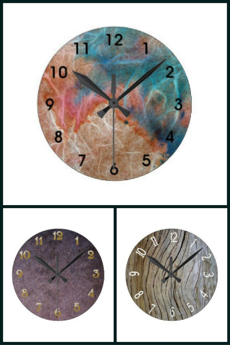 Multi-textured design wall clocks by featured designer @morcash912