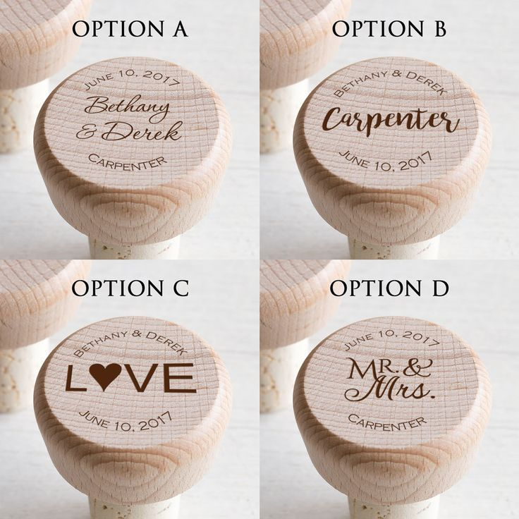 Bulk Personalized Wedding Wine Stopper Favors #personalizedweddingfavors