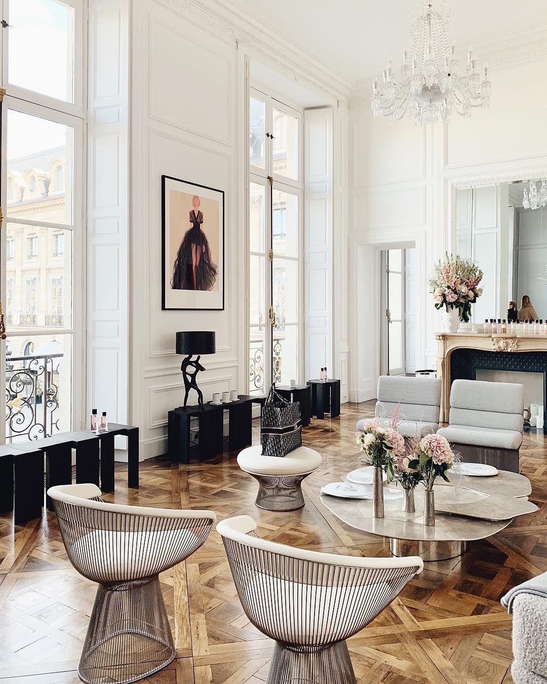 Parisian Accent Chairs Soleil Chairs In Traditional Parisian Apartment Parisian Apartment Decor Parisian Interior Parisian Living Room