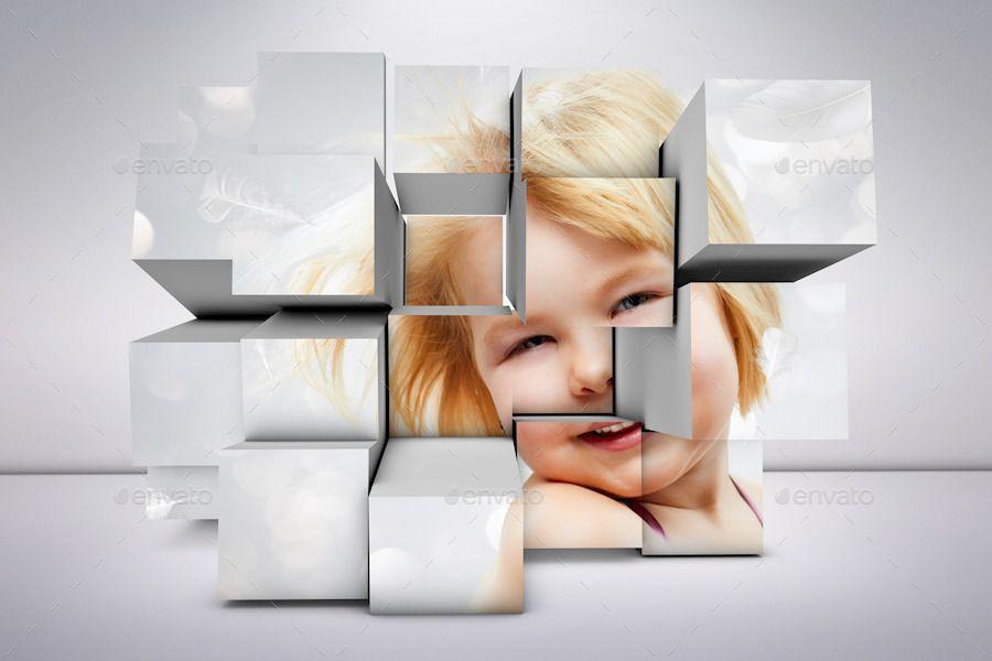3d Photo Box Mockups Bundle Box Mockup Business Cards Diy Templates Photo Box