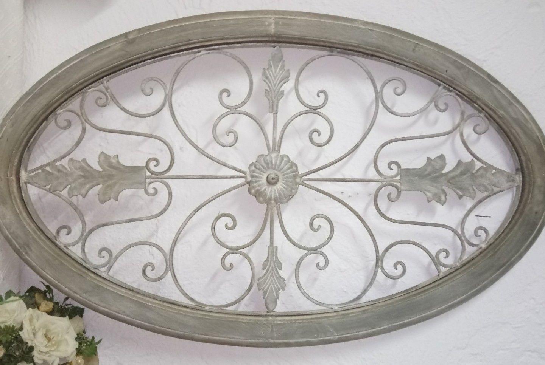 wanddeko holz metall ornament landhaus vintage shabby chic grau 91x54x3cm ebay rustikalen wanddekoration wohnzimmer ideen