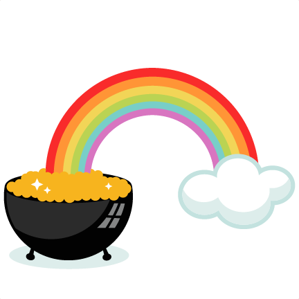 pot of gold with rainbow svg cutting files for scrapbooking cute rh pinterest ca free rainbow and pot of gold clipart rainbow and pot of gold clipart