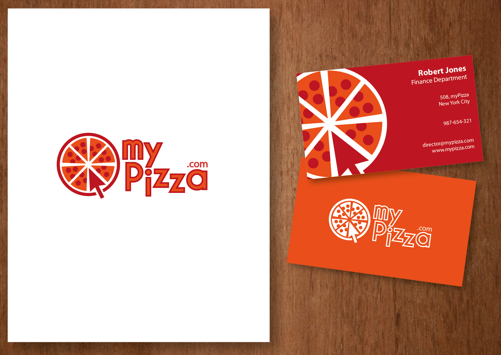 My Pizza Logo Design Print And Business Cards
