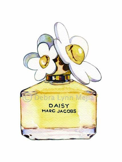 f01d05ef4493b Daisy by Marc Jacobs Perfume Bottle - Print 11 in. x 14 in. on Etsy, £22.21