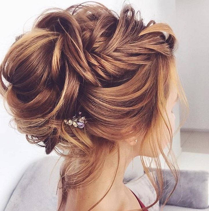 Gorgeous braids with updo,messy updo hairstyles,braids,braided and messy updo hairstyle ideas