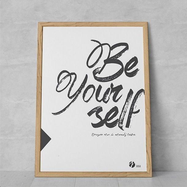 Be yourself poster by Krohn. A4 99 kr, A3 149 kr, 50x70 cm 259 kr.