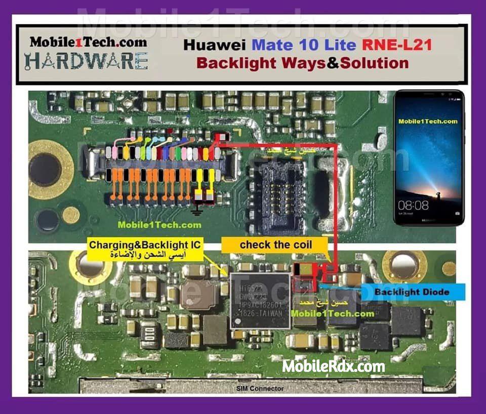 Huawei Mate 10 Lite RNE-L21 Display Problem Solution Backlight Ways