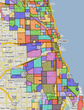 Chicago Neighborhoods Map The BEST Chicago neighborhoods map! You can zoom and see specific  Chicago Neighborhoods Map